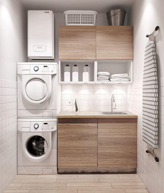 30 Modern Minimalist Small Laundry Room Ideas