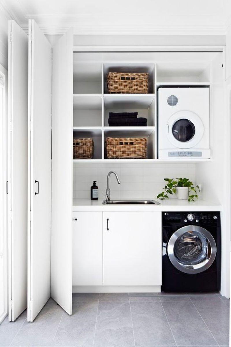 Small Laundry Room Ideas - Compact Hallway