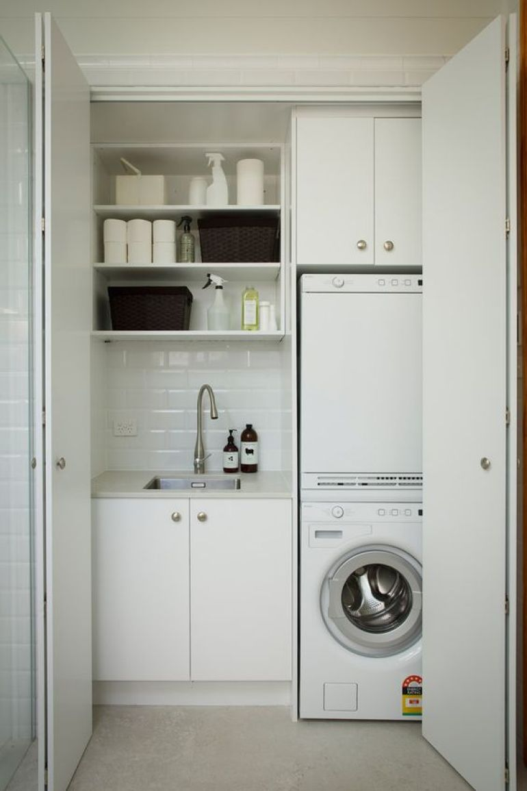 Laundry Closet Small Laundry Room Design