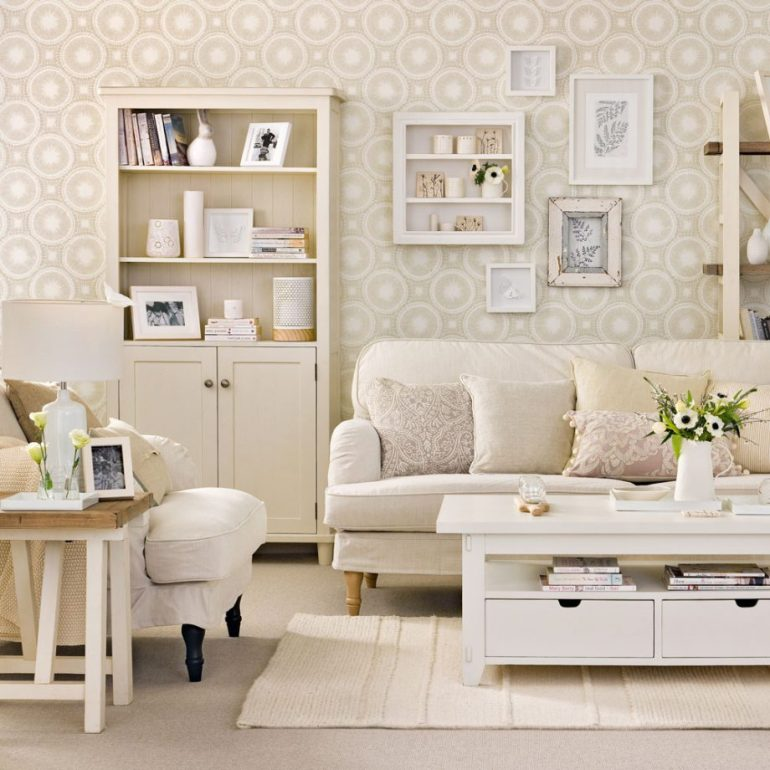 Small Living Room Decorating Ideas Go for a tone-on-tone scheme