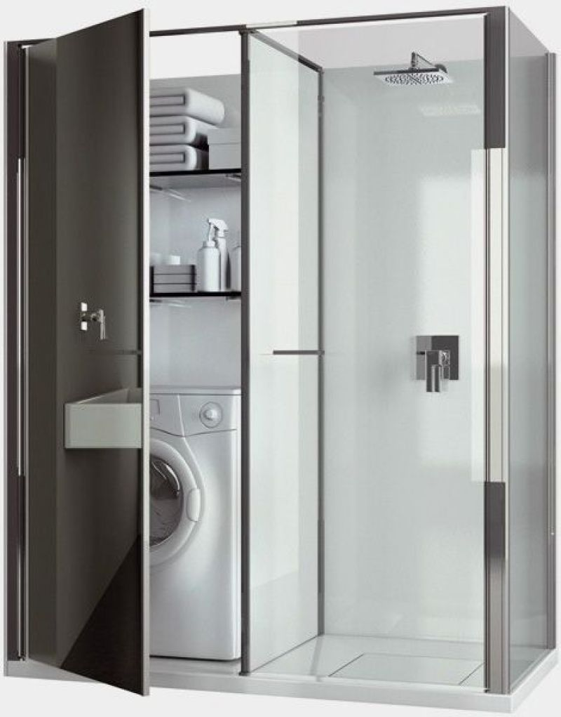 Shower and Laundry Combo Room Design
