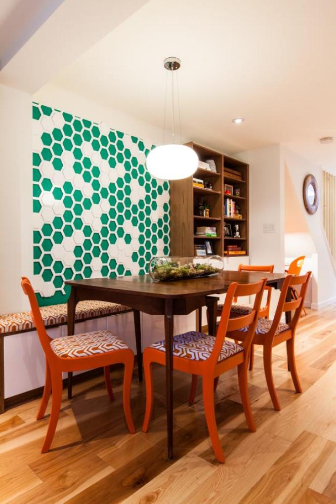 Dining room wall decor ideas Graphic Wallpaper as Art - harpmagazine.com