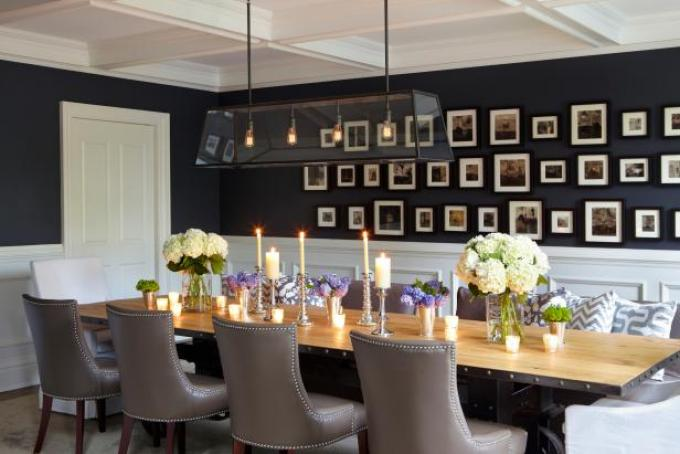 Dining Room Wall Decorating Ideas with Photo Gallery Wall - harpmagazine.com
