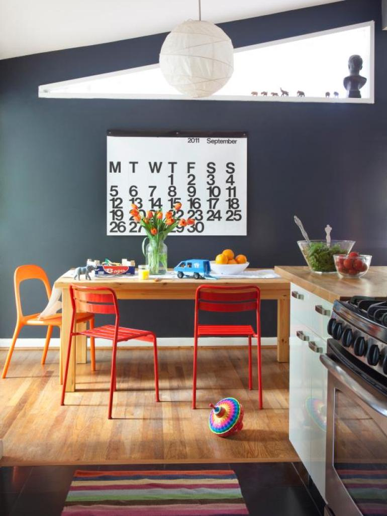 Dining Room Wall Design wait Calendar - harpmagazine.com