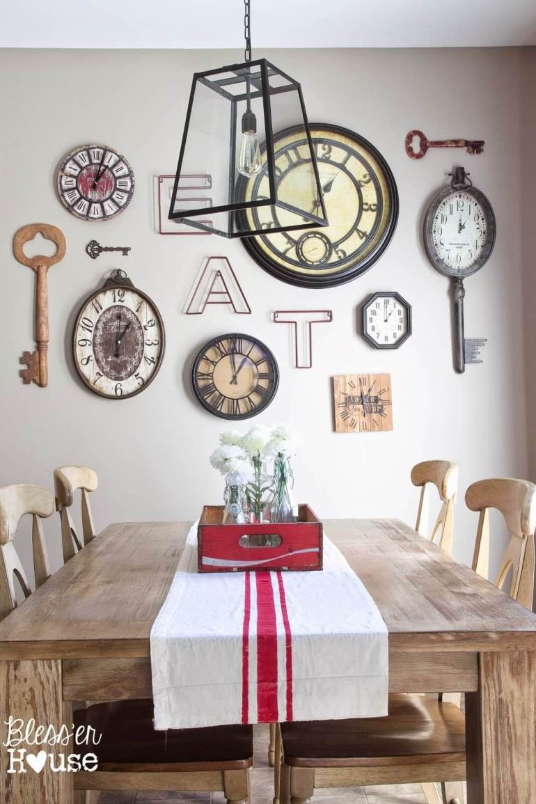 A Dining Room Wall Arrangement With Lot Of Character