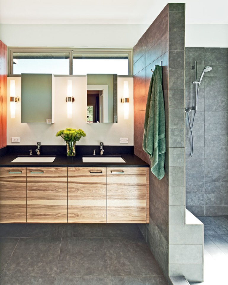 Bathroom Mirror Ideas - Two Rectangular Mirrors 2 - harpmagazine.com