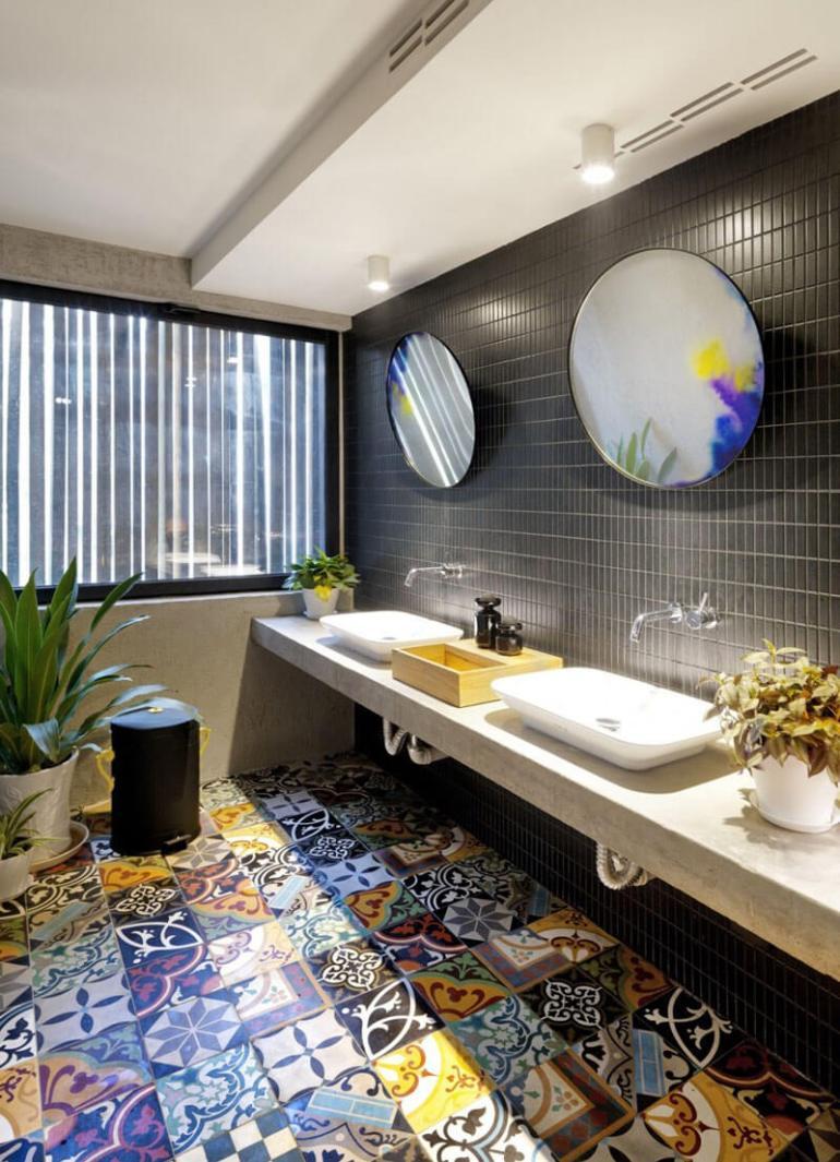 Bathroom Mirror Ideas - Two Round Mirrors 2 - harpmagazine.com