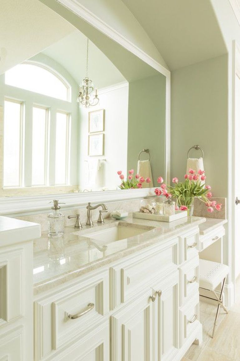 Traditional Bathroom Mirror Ideas With Large Framed Mirrors