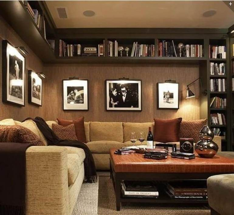 Basement Ceiling Ideas - Book Shelves for Basement Ceiling - harpmagazine.com