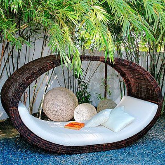 Backyard Landscaping Ideas - Fancy Wicker Furniture - harpmagazine.com