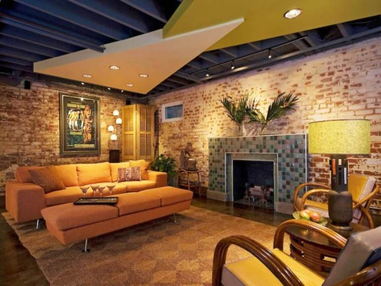 Basement Ceiling Ideas - Geometric Panel for Basement Ceiling - harpmagazine.com