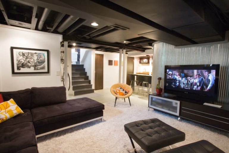 Black Basement Ceiling Ideas - harpmagazine.com