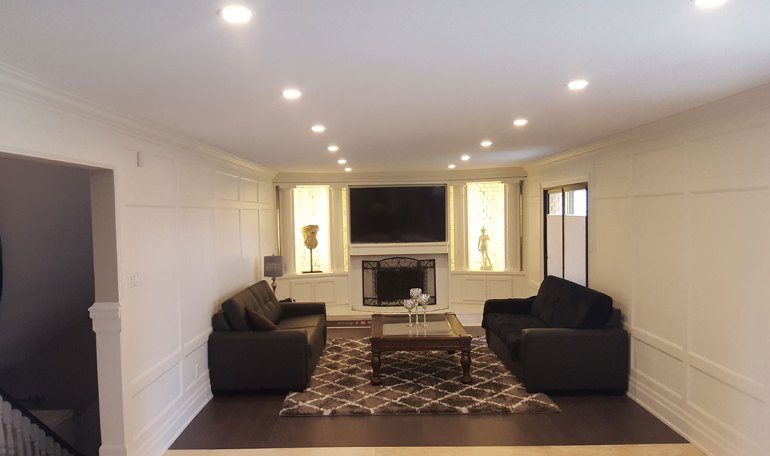 Low Basement Ceiling Ideas - Remove crown molding (or keep it very thin) - harpmagazine.com