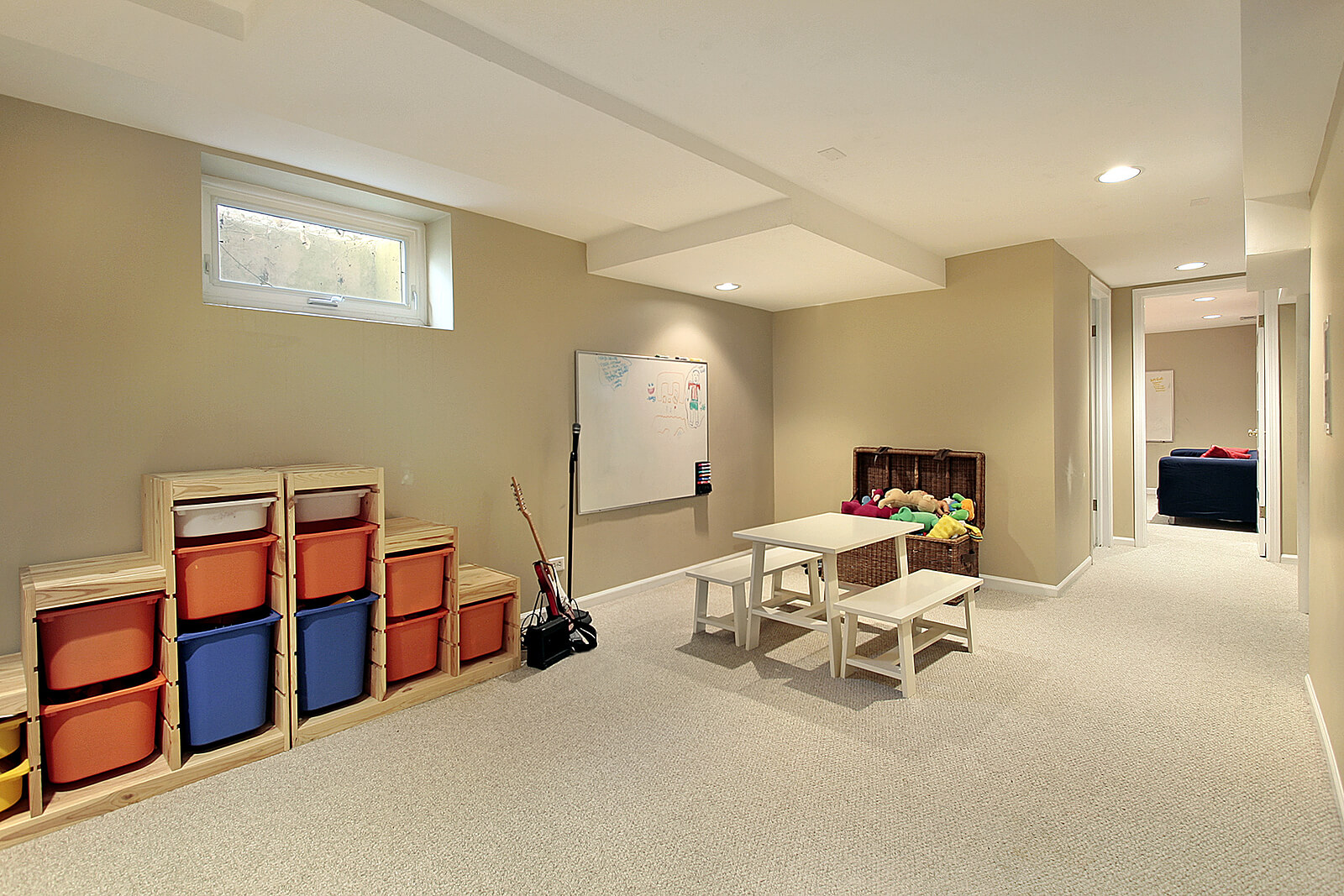 Painting Tips To Make Low Basement Ceiling Ideas Look Higher