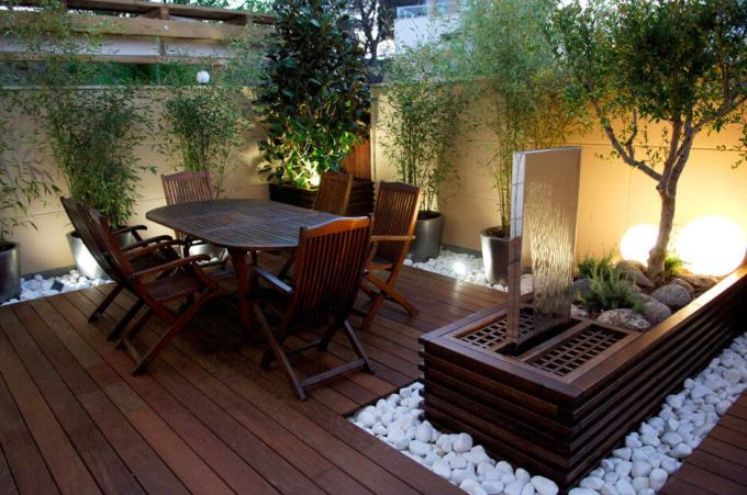 Backyard Landscaping Ideas - Sleek Patio Area - harpmagazine.com