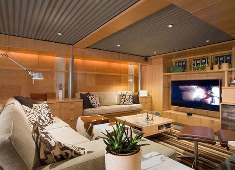 Basement Ceiling Ideas - Corrugated Metal Ceiling - harpmagazine.com