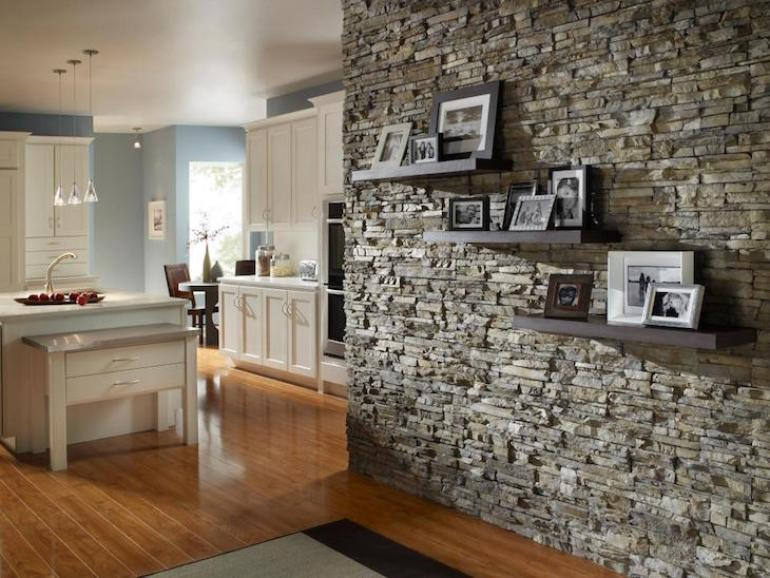 Accent Wall Ideas - Stone - harpmagazine.com