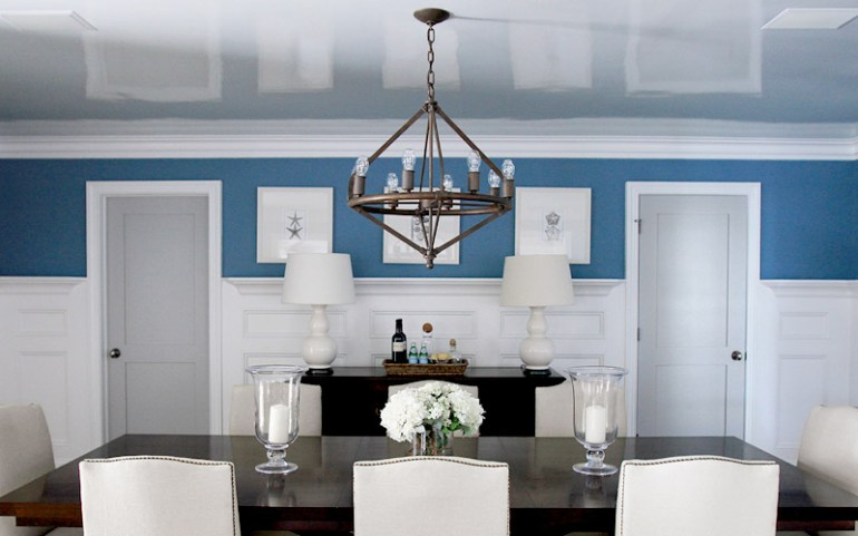 Low Basement Ceiling Ideas - Use a high-gloss finish for the ceiling - harpmagazine.com