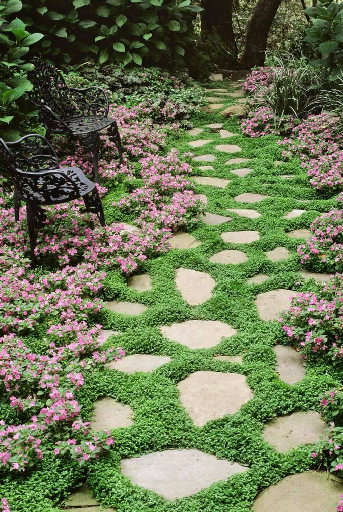 Backyard Landscaping Ideas - Perennial Pathway - harpmagazine.com