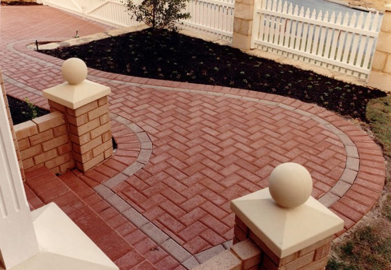 Paver Patio Ideas Herringbone Pattern - harpmagazine.com