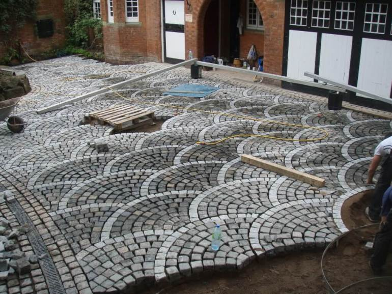 Paver Patio Ideas European Fan Pattern - harpmagazine.com
