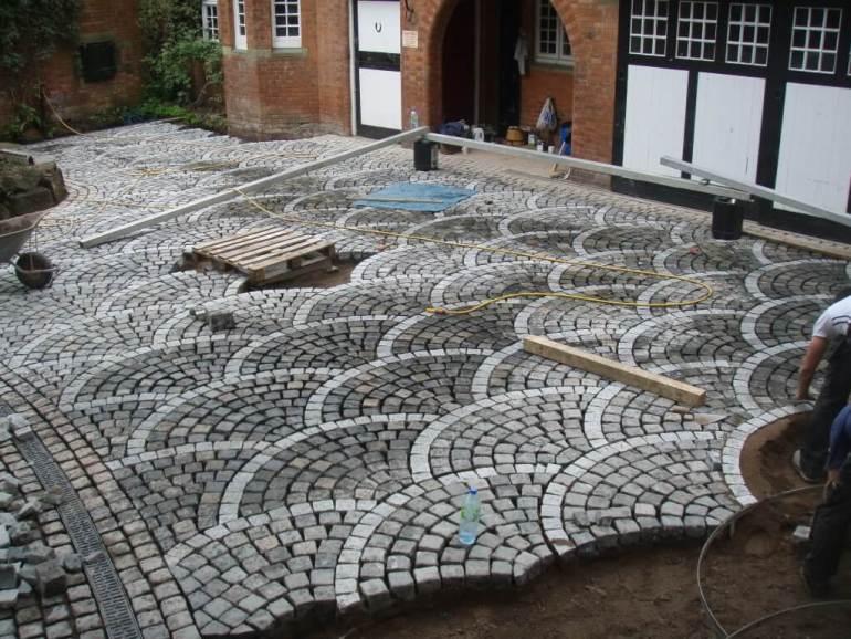 european fan pattern paver patio ideas - Paver Patio Ideas