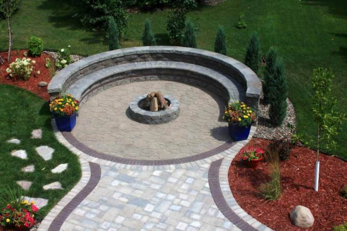 Paver Patio Ideas Circle Kit Designs - harpmagazine.com