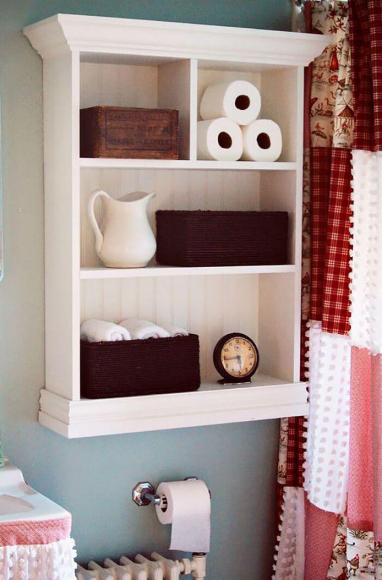 Bathroom Storage Ideas - Simple Shelving - harpmagazine.com