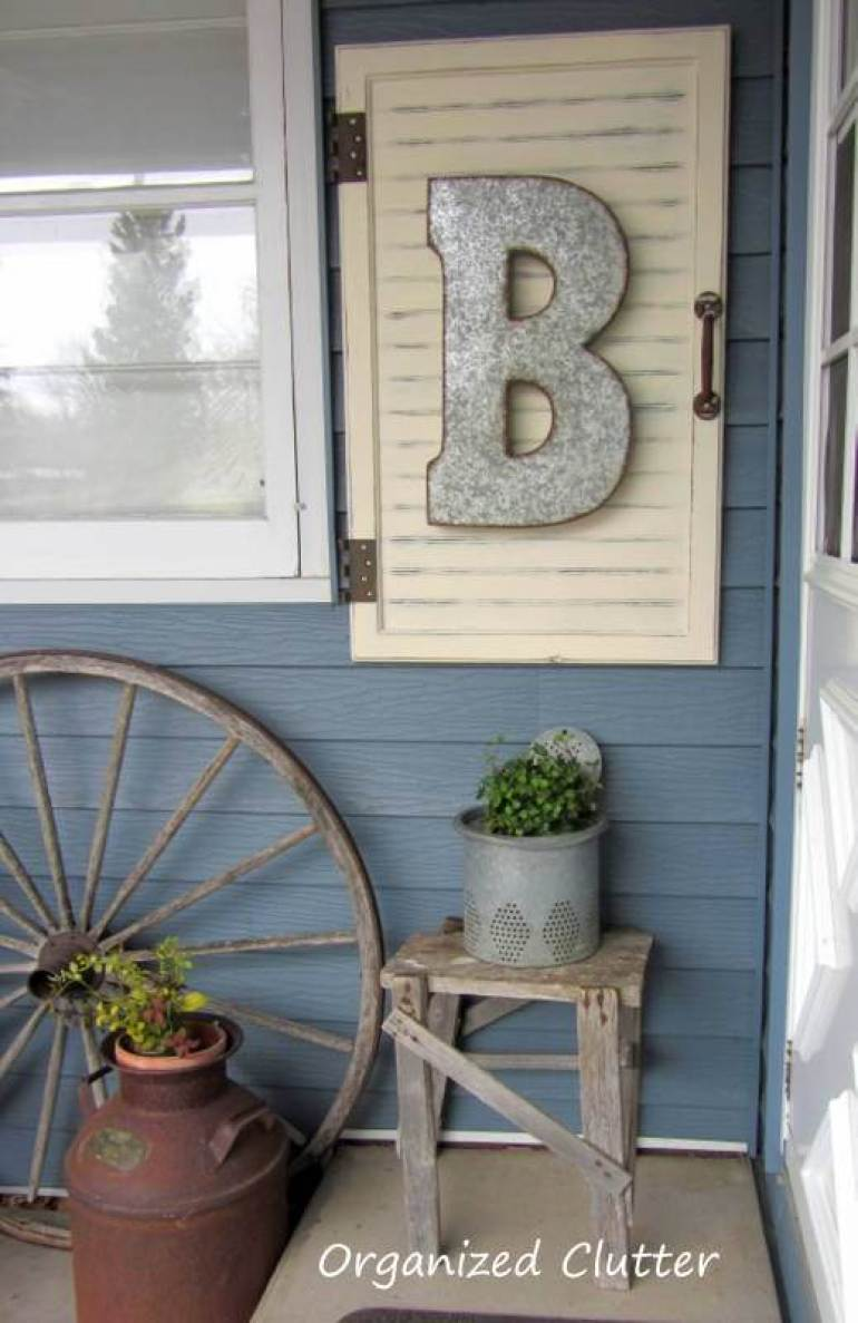 Farmhouse Porch Decorating Ideas - Roadside Sign Porch Lettering - Harpmagazine.com
