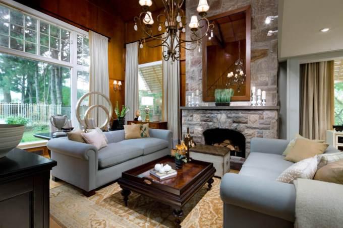 Rustic Chic Living Rooms Ideas - Dark Cherry Rustic Home Stead - harpmagazine.com