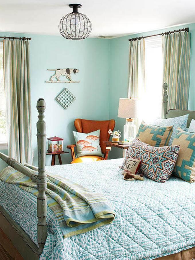 Romantic Master Bedroom Decor Ideas - Get the Blues - Harpmagazine.com