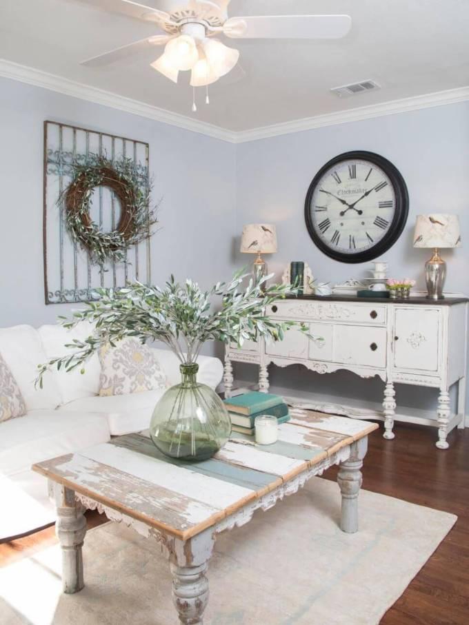 Rustic Chic Living Rooms Ideas - Stylish Clocktower - harpmagazine.com
