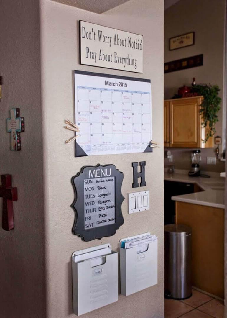Storage Ideas for Small Spaces - Keep Organized with a Stylish Organizer Wall - Harpmagazine.com
