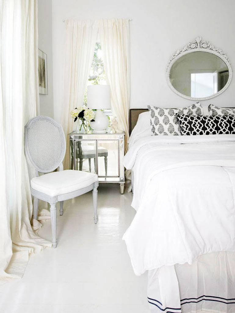 Romantic Master Bedroom Decor Ideas - White on White - Harpmagazine.com