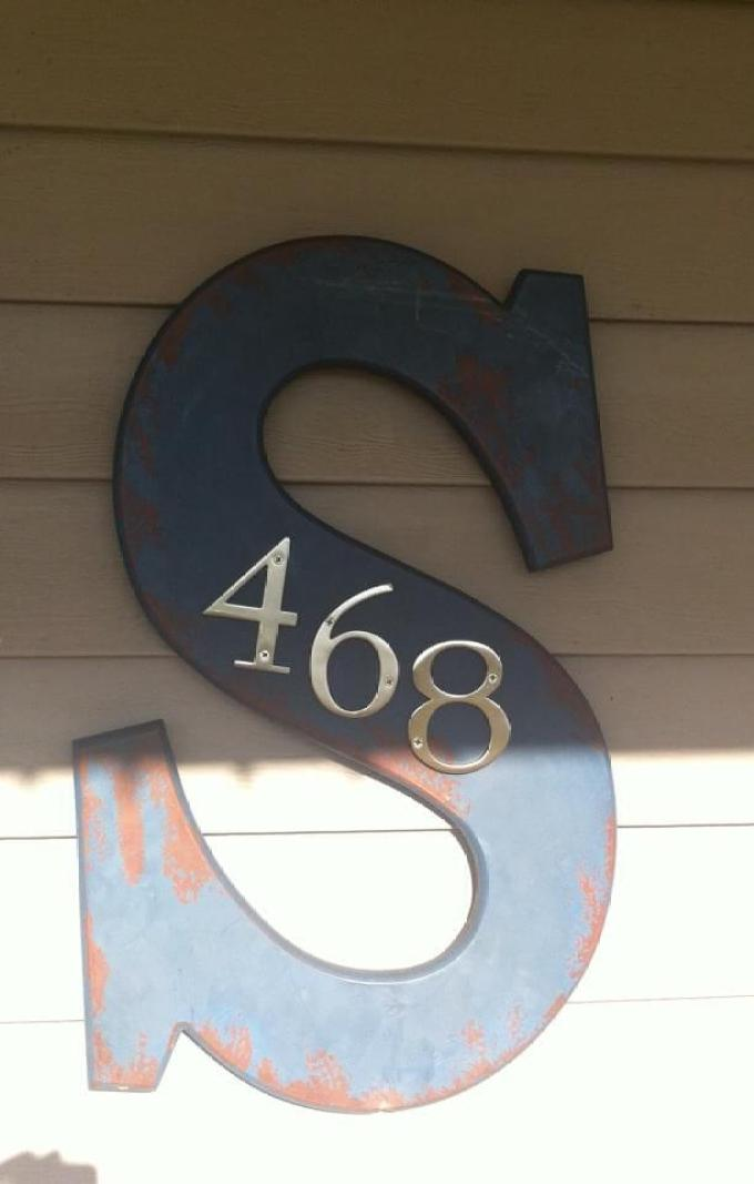 Farmhouse Porch Decorating Ideas - Schoolhouse Letter-To-House Number Plaque Farmhouse Porch Decorating Ideas Farmhouse Porch Decorating Ideas - Harpmagazine.com