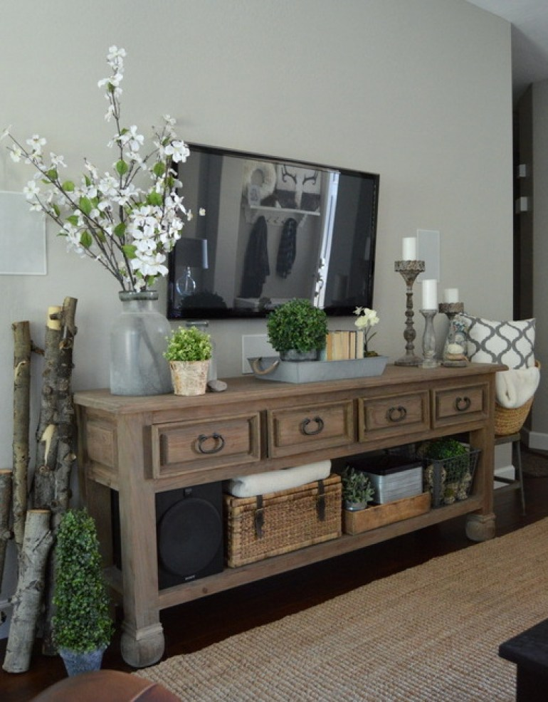 Rustic Chic Living Rooms Ideas - Forestry Decor with a Gentle Chic Touch - harpmagazine.com