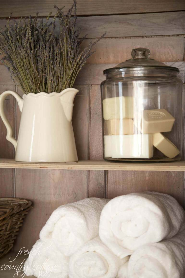 French Country Decor Ideas - French Country Bathroom or Linen Closet Display - Harpmagazine.com