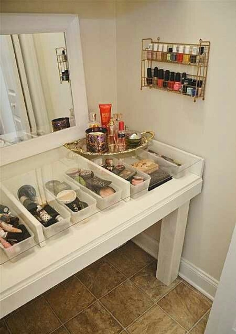 DIY Makeup Room Ideas Glass Top - harpmagazine.com