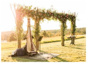 Harpist-Outdoor-Wedding