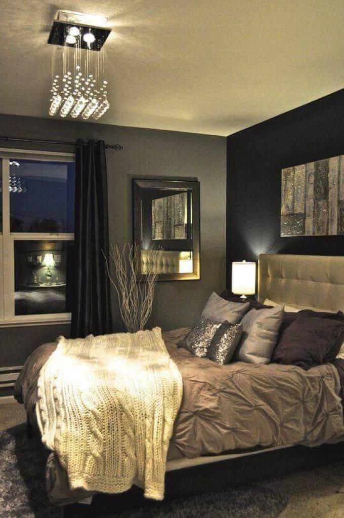Bedroom Paint Colors An Elegant Bedroom with Black and Beige - Harppost.com