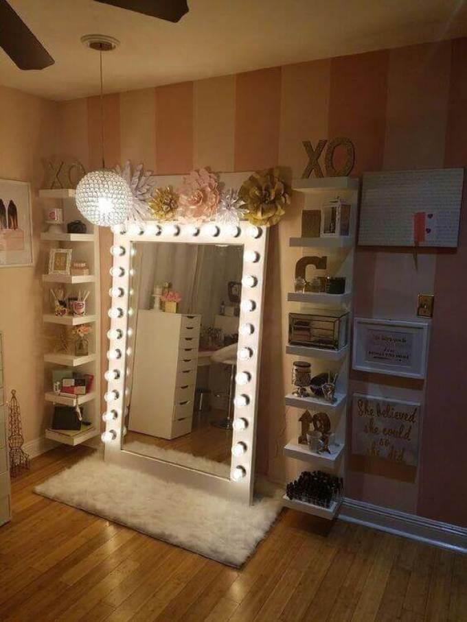 DIY Vanity Mirror Crystal Pendant Lights - Harppost.com