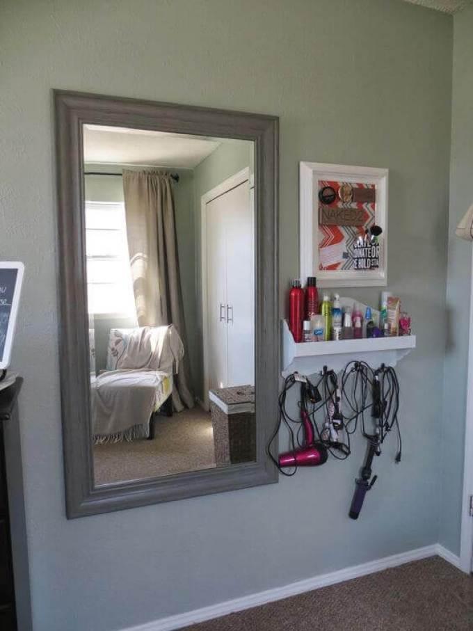 DIY Vanity Mirror with Lights Wooden Frame - Harppost.com
