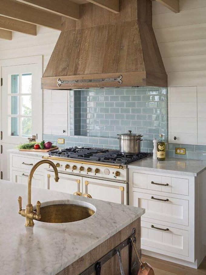 French Country Decor Calming Blue Subway Tiles - Harppost.com