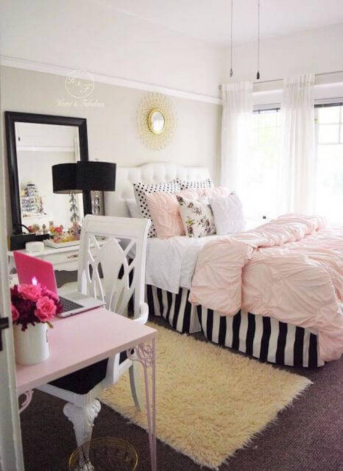 Girls Bedroom Ideas in Pastels - Harppost.com