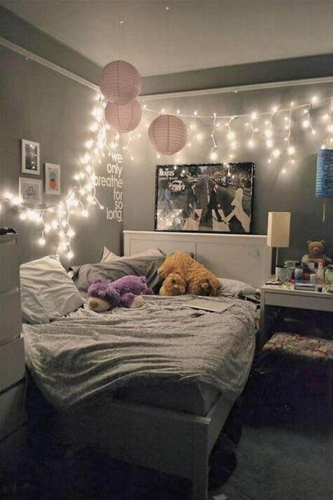 Girls Bedroom Ideas with Decorative Lighting - Harppost.com