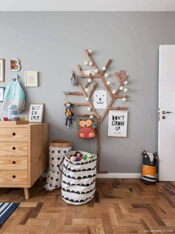 Kids Bedroom Ideas 3D Wooden Tree Wall Art - Harppost.com