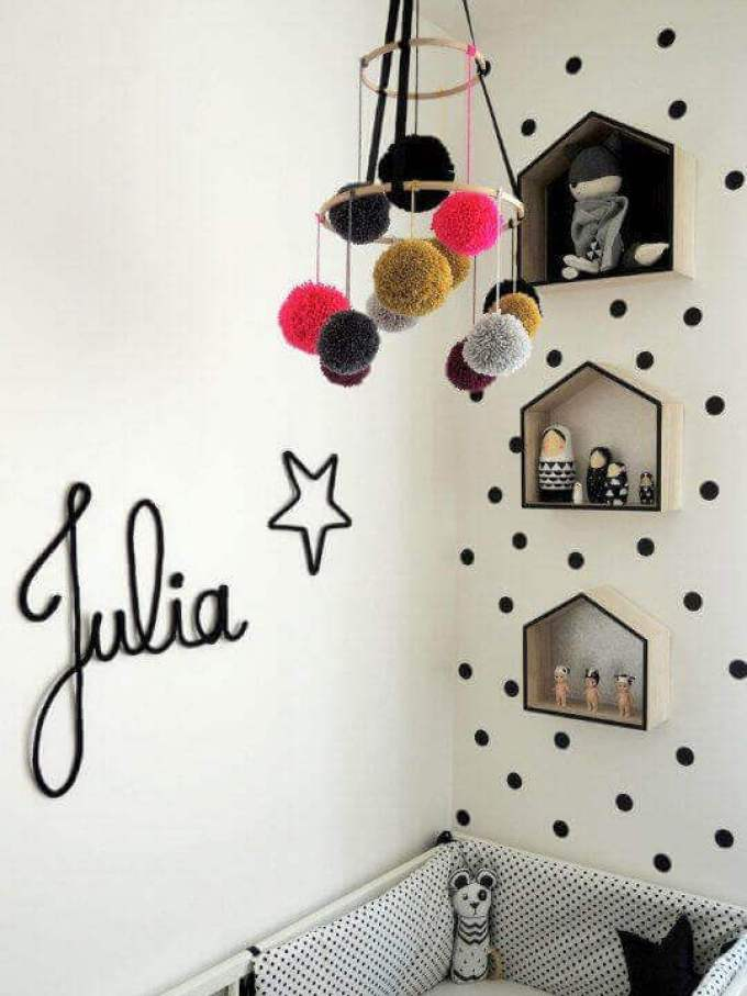 Kids Bedroom Ideas Striking Pom Poms - Harppost.com