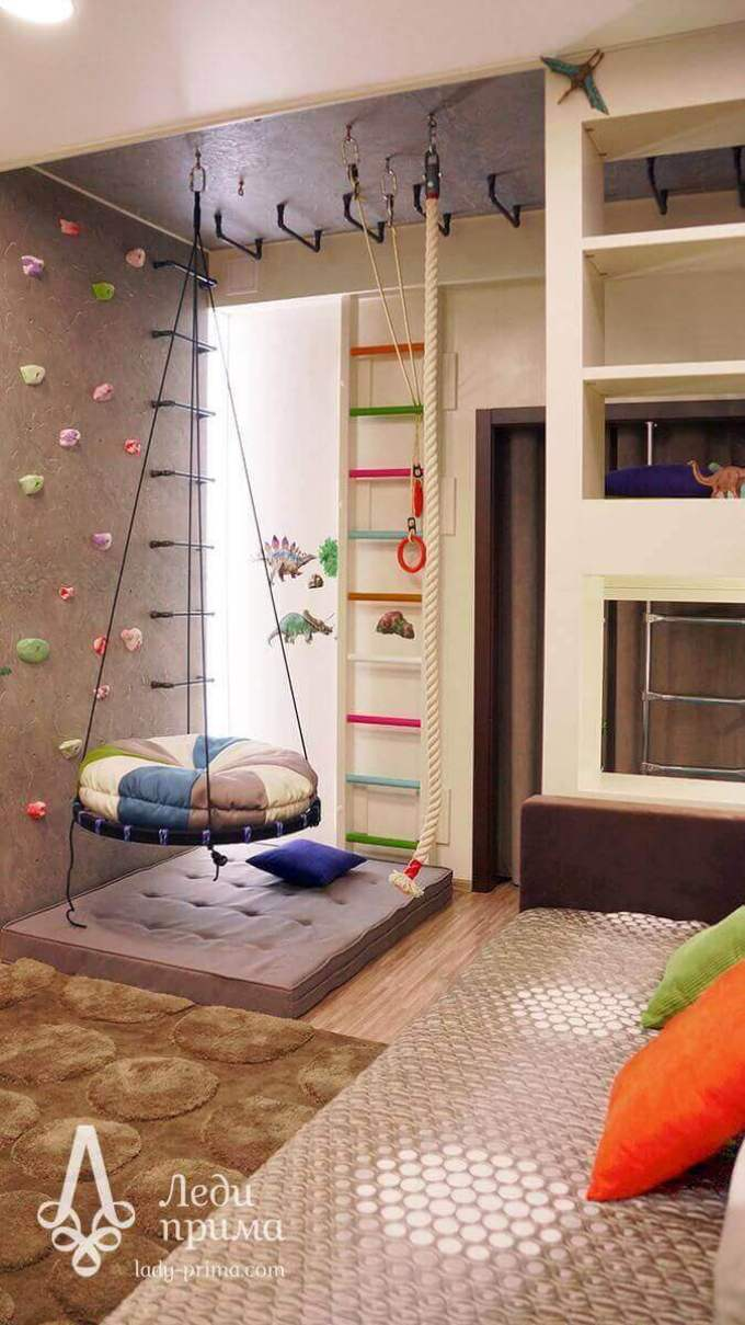 Kids Bedroom Ideas Swinging Round Bed - Harppost.com
