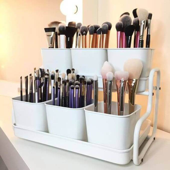 Makeup Room Ideas Brush Storage Racks - Harppost.com