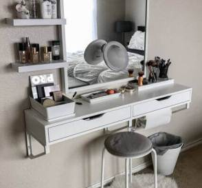 Makeup Room Ideas Floating Dressing Table